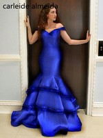 Taffeta & Organza Mermaid Prom Dresses Off the Shoulder Vestidos de gala Women's Formal Dress 2018 Gala Dress