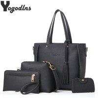 Женская сумка, Большая вместительная Женская сумочка с кисточками, модная сумка на плечо, дамская сумка из искусственной кожи, сумка через п...