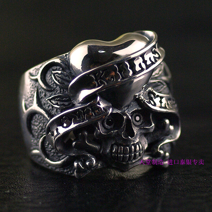Thailand imports 925 Sterling Silver Genuine original Skull Ring