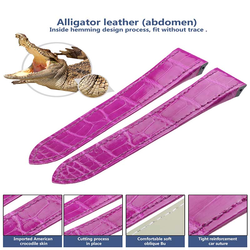 South America Alligator skin Watch Band for Cartier Watch Belt 12-26mm Men Women Genuine Alligator Watchband a015 south america alligator genuine leather strap 100