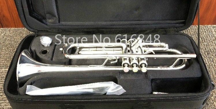 Jupiter JTR-1100 Bb Brass Silver Plated Trumpet Brand Quality Instrument Pearl Button With Mouthpiece And Case Free ShippingJupiter JTR-1100 Bb Brass Silver Plated Trumpet Brand Quality Instrument Pearl Button With Mouthpiece And Case Free Shipping