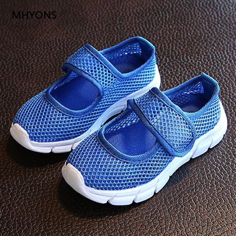 MHYONS 2019 New Kids Shoes Summer Non-slip Children Net Shoes Girls Fashion Sandals Multicolor Princess Sandals Boys Sneakers
