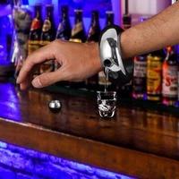 Innovative Bracelet Hip Flask Mini Stainless Steel Portable Flagon Whiskey Liquor Flask Bottle Bracelet Great For