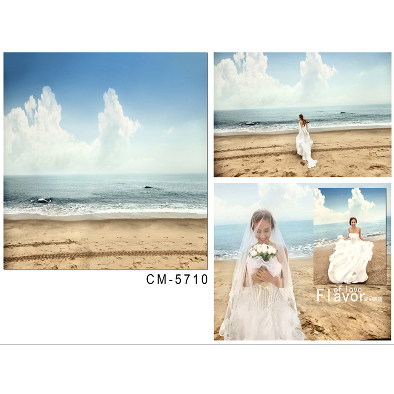 цена Wedding Photography Backdrops The Blue Sky and White Clouds Party Photo Background Sea Beach Background for Photography Studio онлайн в 2017 году