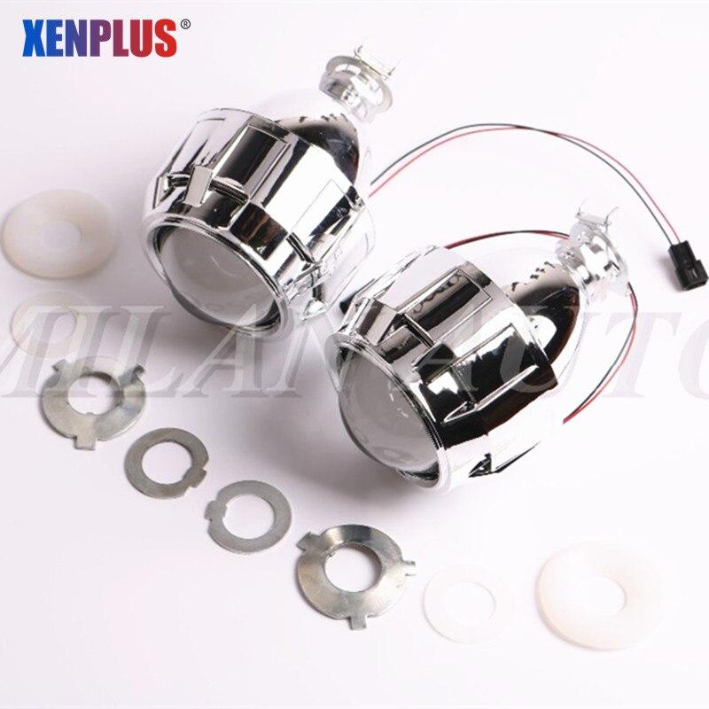 Bi xenon Projector Lens LHD RHD Retrofit HID 2.5 inch WST Headlight Lenses fits H7 H4 Motorcycle Lens Use H1 Bulbs Car Styling