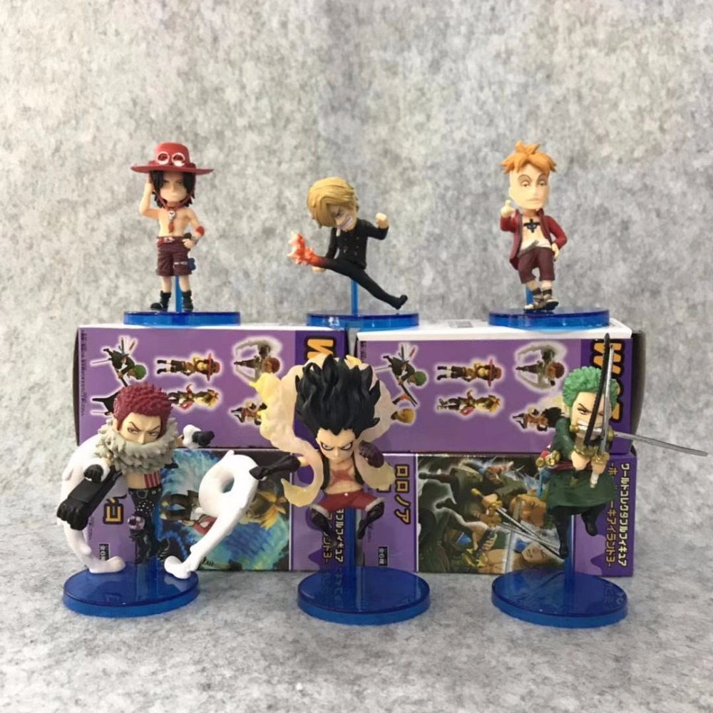 Toys & Hobbies One Piece Luffy Wcf Gear Four Snake Man Monkey D Luffy Charlotte Katakuri Ace Zoro 8cm Action Figure Model Toy Non-Ironing