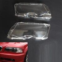 2 stks iSincer Nieuwste KOPLAMP Schaduw VERVANGING KOPLAMP LENZEN LINKS & RECHTS SET Voor BMW E46 99-03 2DR/01-06 M3 Auto Lampenkap