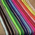 Оптовая 20 Цветов 60yds помпон кружевные планки, передач/зуб Shape1cm pom pom кружева, пом пом обрезки, DIY швейные аксессуары для одежды