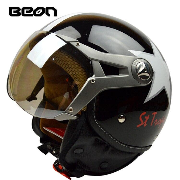 ФОТО Fashion brand Beon vintage motorcycle helmet Scooter open face helmet B-100 helmet  lucky star helmet moto casco ECE