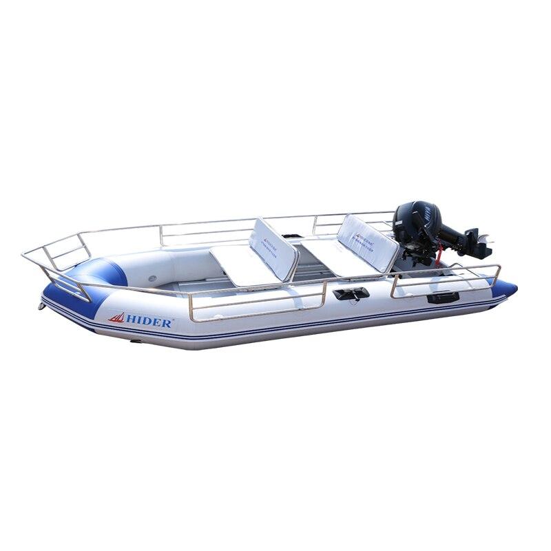 Hider HA-330 bateau de pêche gonflable famille Double 0.9mm bateau en PVC pour le sauvetage avec Kit de réparation de pompe à rame et sac
