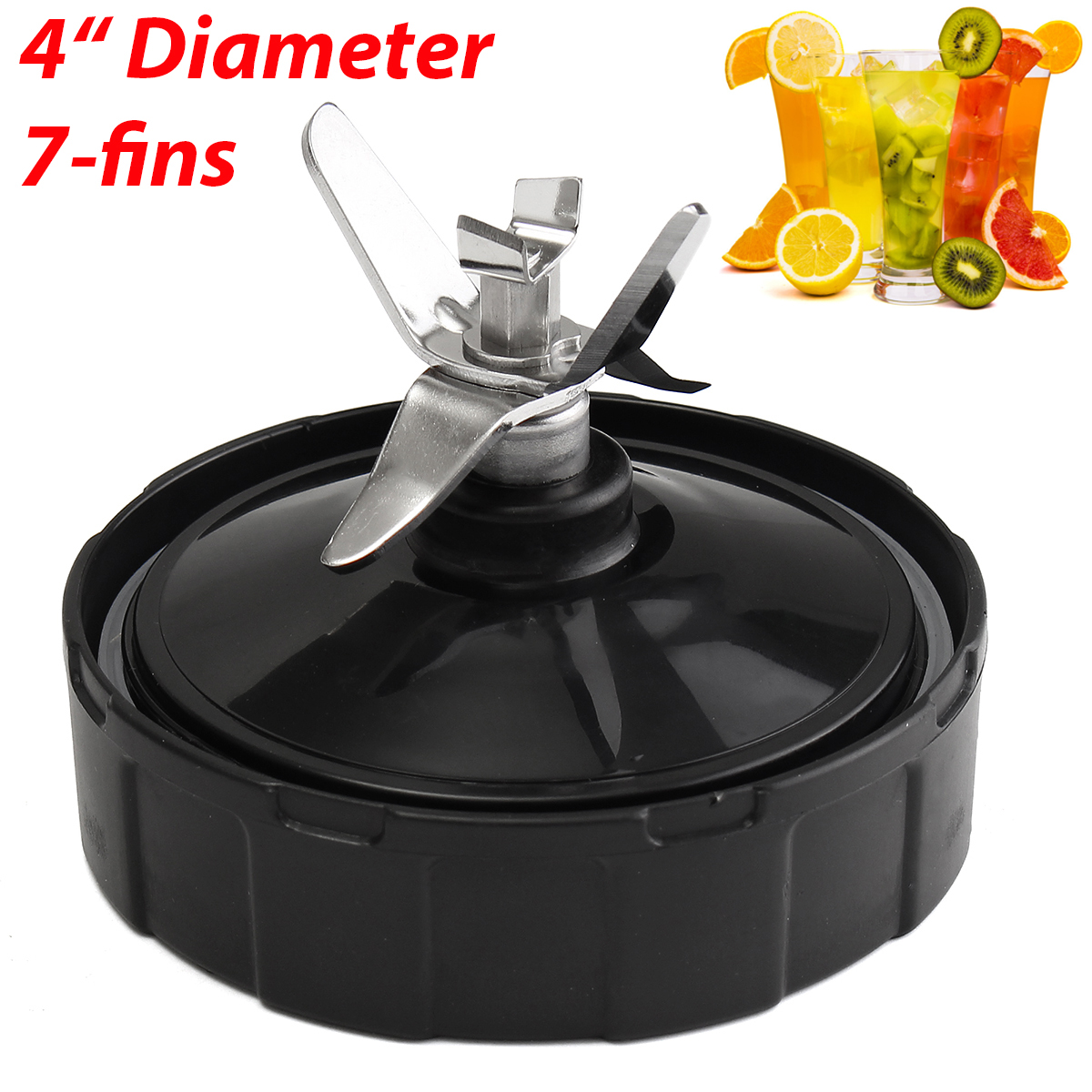 7 Fins Plastic Metal Extractor for Cross Blade Assembly Only for Nutri Ninja Blender 1000W Home Kitchen Appliance Blender Parts