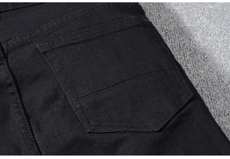 Royles Men's skinny black ripped jeans 9