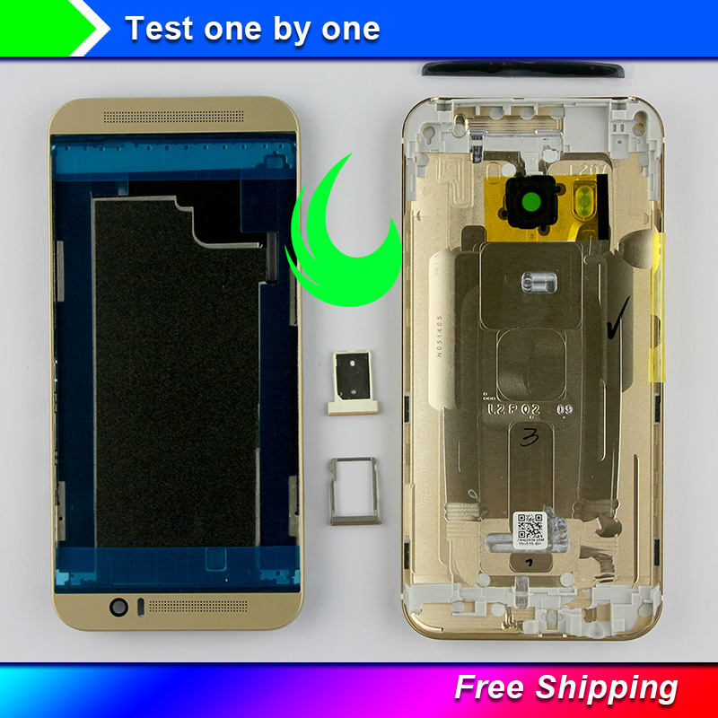 New Original LCD Front Frame <font><b>Battery</b></font> Door Back Cover Infrared Sheet Housing <font><b>Case</b></font> For <font><b>HTC</b></font> <font><b>One</b></font> <font><b>M9</b></font> W Volume Buttons For <font><b>M9</b></font> Housing image
