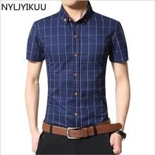 Контрастность воротник дизайнер slim fit коротким рубашка рубашки качества высокого рукавом