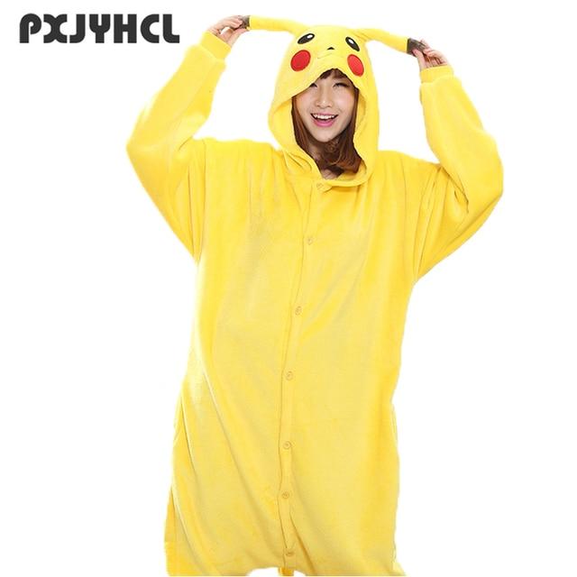 Для женщин Пикачу косплэй Kigurumi Onesie взрослых забавные Ainmal Пижама  Nightown Свободные теплые пижамы комбинезон зимняя 727ecf1cf55c1