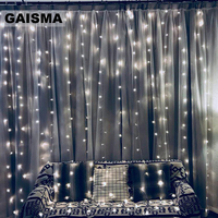 4M x 2M LED Curtain Lights Wedding Decorations Garland Christmas Fairy Lights Party New Year Home Holiday Lighting Outdoor