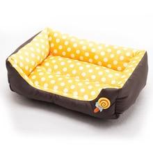 2017 Fashion Lollipop Rectangle Pet Dog Beds Colorful Wave Point Pet Kennel 4 Colors Size S-L Soft Dog Cushion Cat Mat