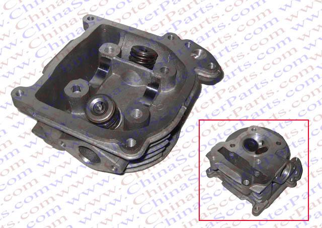 GY6 120CC 52MM Cylinder head Assy with valves 139QMB Jonway Jmstar Baotian Scooter Parts jv33 keyboard pcb assy printer parts
