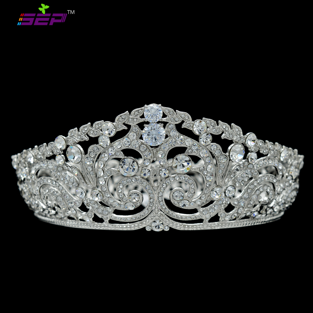 H-Quality Fashion Flower Tiaras and Crowns for Wedding Headbands Accessories Austrian Crystals CZ Zircon Prom Jewelry SHA8708