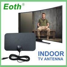 2pcs HDTV Antenna digital Indoor DTV Antena TV Antennas Free Fox Aerial DVB-T DVB-T2 Surf HD Radius VHF UHF Signal Receiver