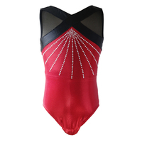 NT17028 Red Rhinestone Gilrs Gymnastics Leotards, girls leotards,gymnastics leotards competition,dance leotard,dance costumes