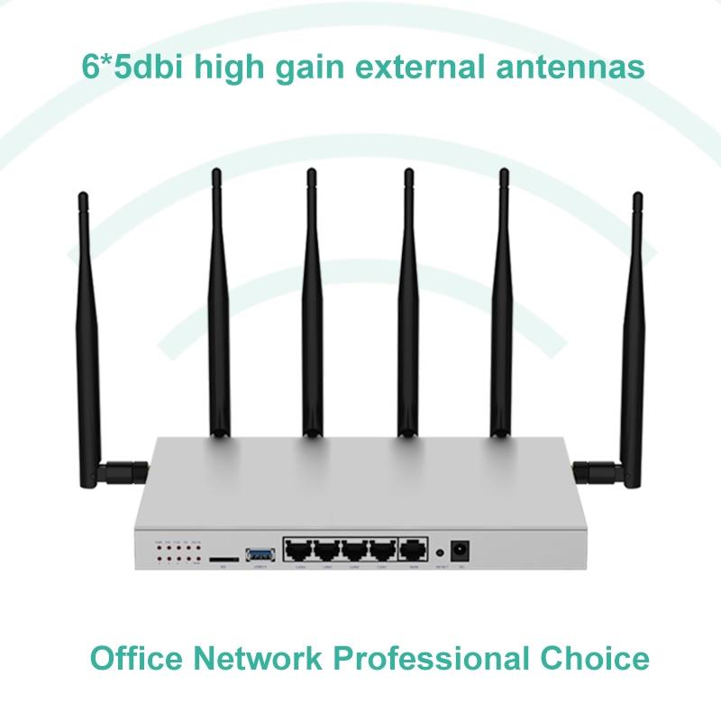 Modem 4g lte router wi fi sim card gigabit 1200Mbps metal housing 512MB DDR2 5G dual