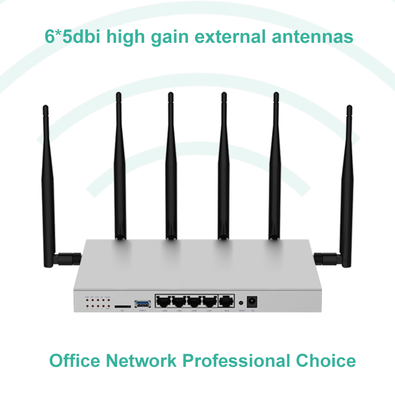 Modem 4g lte router wi fi sim card gigabit 1200Mbps metal housing 512MB DDR2 5G dual band wifi repeater access point-in Wireless Routers from Computer & Office