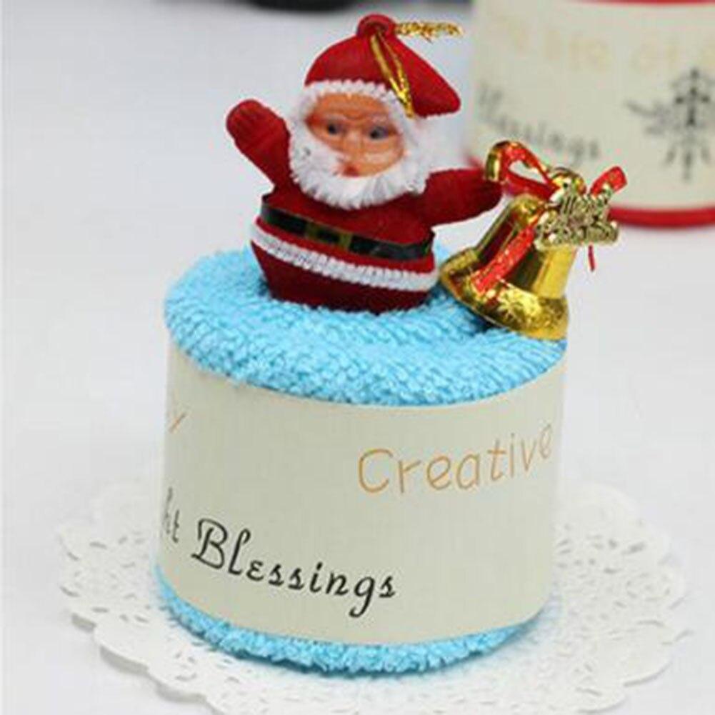 Cute santa claus towel christmas decor - 2017 Santa Claus Christmas Cake Modelling Cotton Towel Creative Gifts Home Textile Christmas Decor China