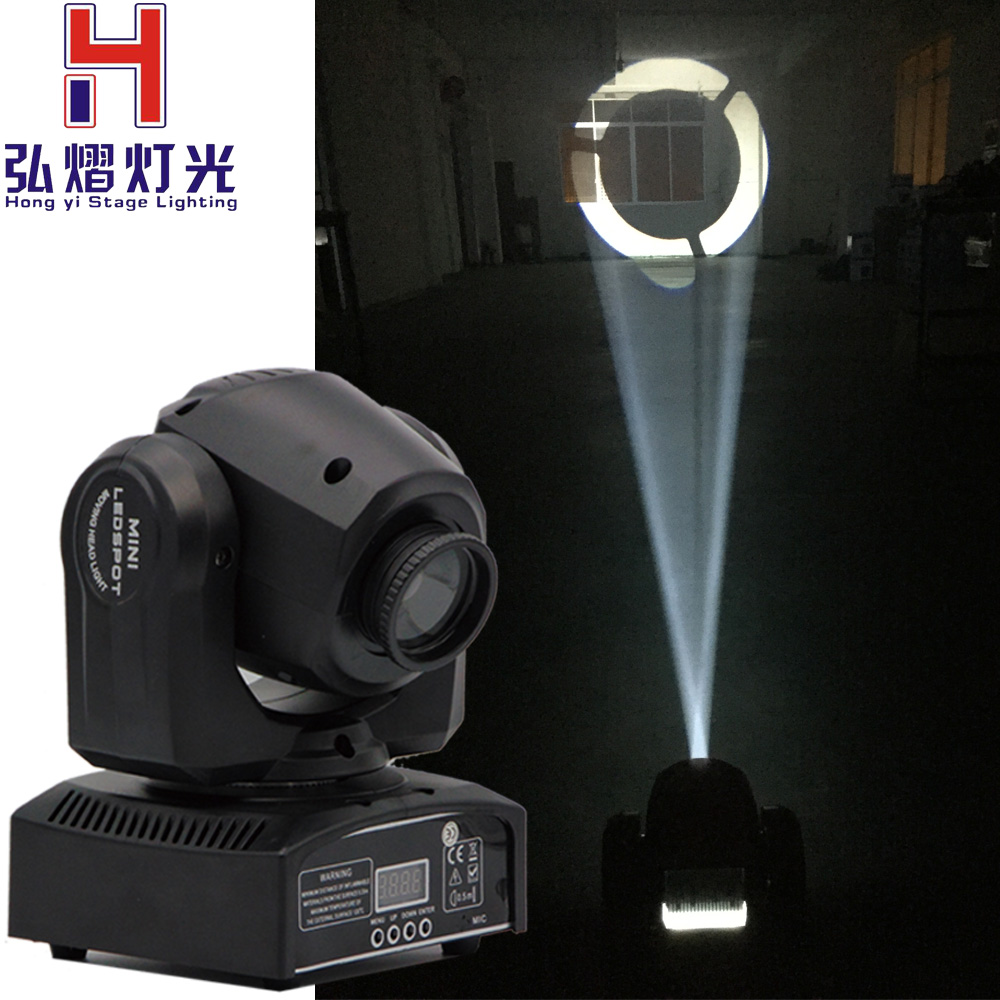 10 w led moving head spot gobo luce Della Discoteca del Dj Dmx Spot lampada Gobo Strobo Laser Show Party luci Audio Casa Colore Musica Lumiere