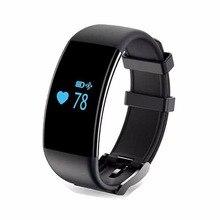 Perseguidor Del Ritmo Cardíaco del Podómetro Bluetooth Banda de la Muñeca A Prueba de agua Natación fitbits Sueño Pulsera Banda de fitness Inteligente para iOS Android