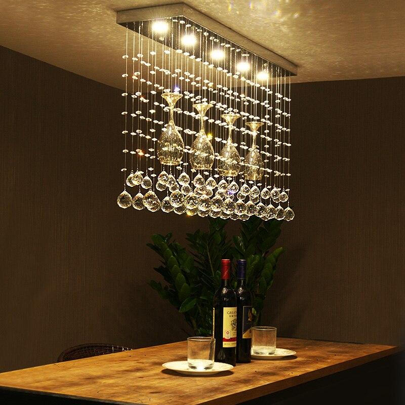 Crystal combination led Ceiling Light League restaurant LED crystal restaurant dining table Crystal light home lighting ZA