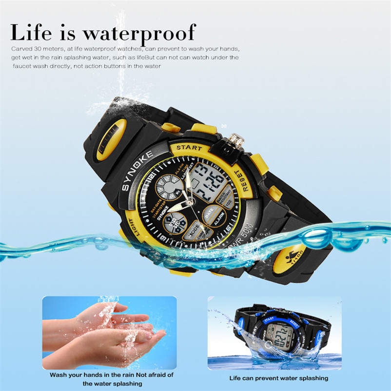 Men Sports Watches Dual Display Analog Digital LED Electronic Quartz Wristwatches Waterproof Swimming Military Watch #4J05#F#FN men sports watches dual display analog digital led electronic quartz wristwatches waterproof military watch reloj hombre skmei