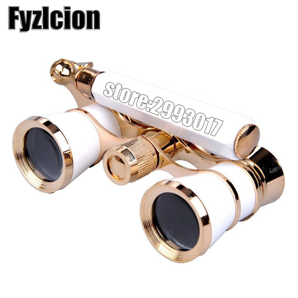 Fyzlcion 3x25 бинокулярный телескоп опера Очки покрытием Театр/Опера Стекло леди Стекло ручка telescopio