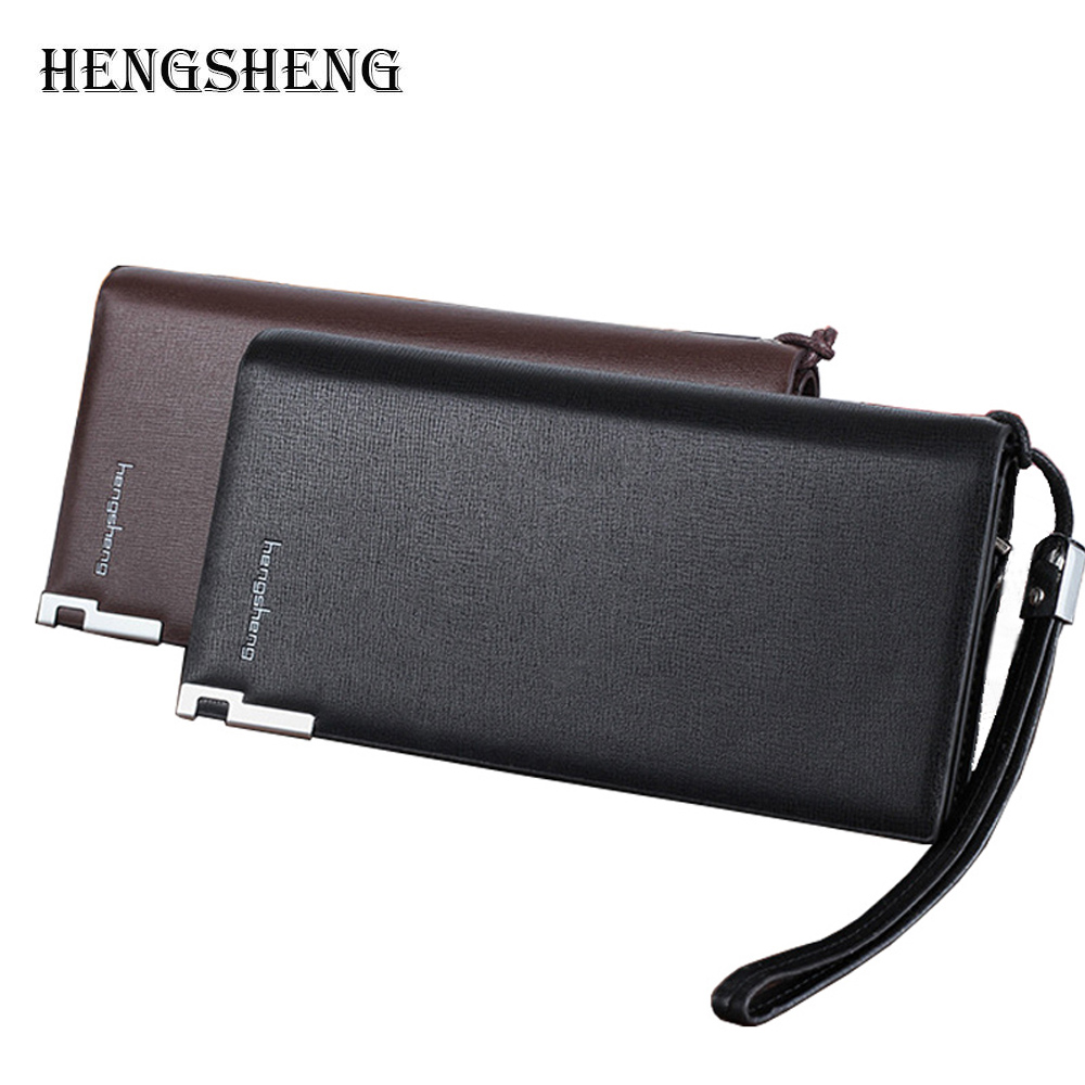 New Men Brand Long Zipper Wallet Leather With Zipper 2016 Male Designer Business Black Brown Clutch Bag Wallets Purses Pocket 2016 famous brand new men business brown black clutch wallets bags male real leather high capacity long wallet purses handy bags