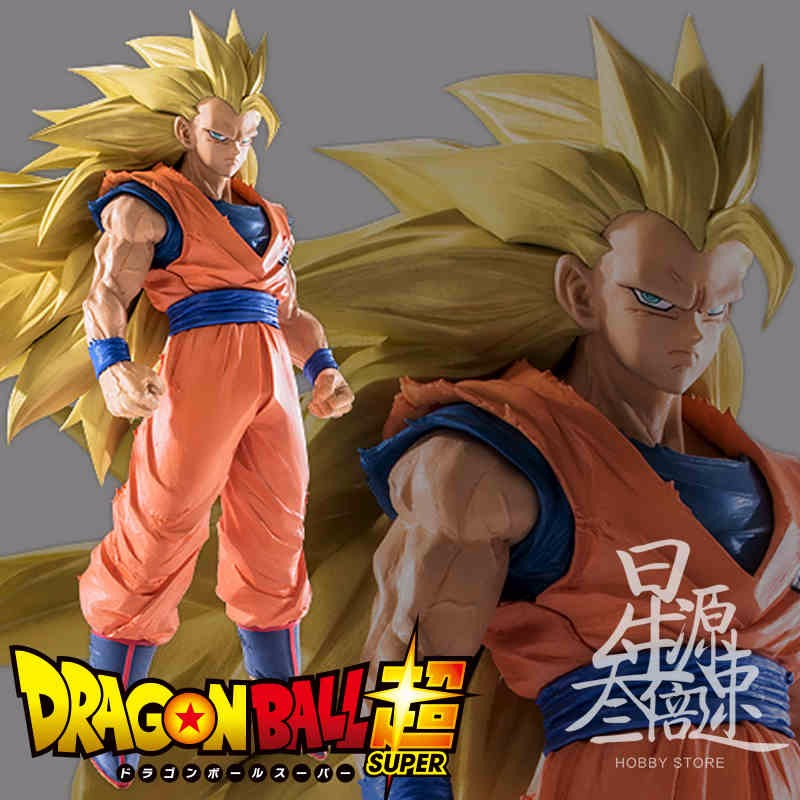 20CM Original Banpresto Dragon Ball Z Super Saiyan 3 Son Gokou Dragon Ball Z Budokai 6 PVC Action Figure collection Model toy the son gohan dragon ball z action figure model 20cm pvc son goku figure toys for collection kids toy