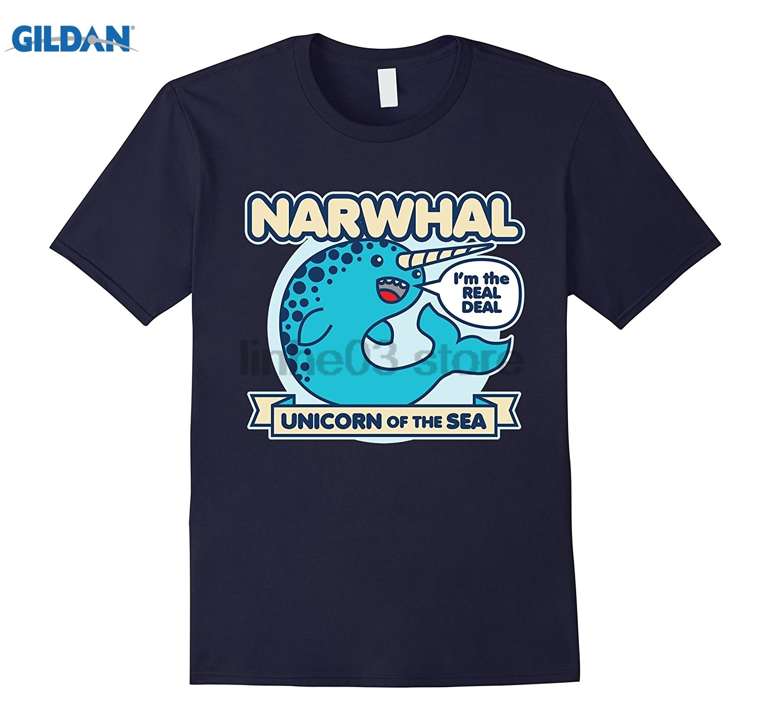GILDAN Narwhal T-Shirt - Unicorn Of The Sea T-Shirt dress T-shirt