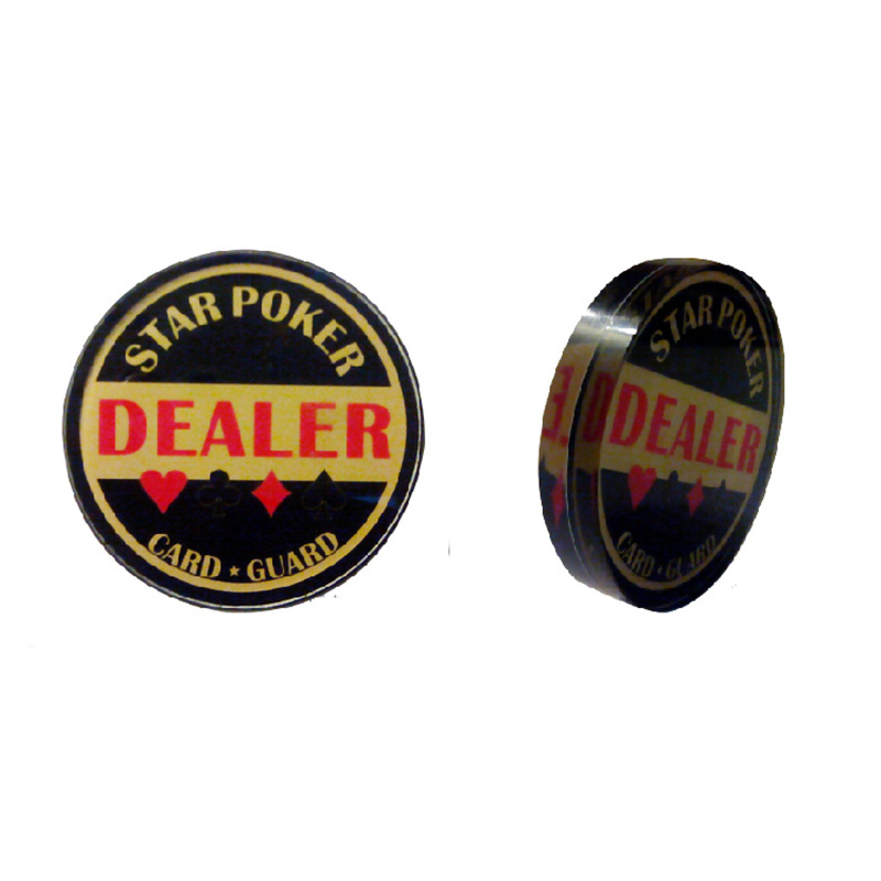 Classic Black Poker Chips High Quality Crystal 6.5*6.5cm Casino Chip /Banker Chips