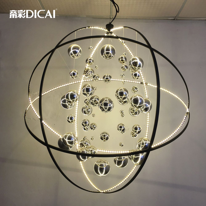 New Loft Uiverse Ball LED Ceiling Lamp Modern Cafe Bar Store DropLight Pendant Cafe Dining Room Hotel Hall Restaurant Lighting loft edison vintage retro cystal glass black iron light ceiling lamp cafe dining bar hotel club coffe shop store restaurant