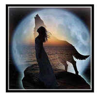 Golden Panno,Needlework,DIY DMC Cross stitch,Sets For Embroidery kit 14ct unprinted cotton thread Wolf beauty Cross-Stitching
