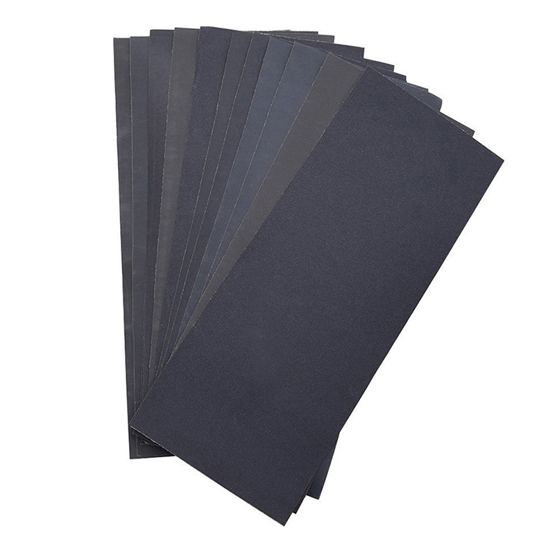 Retail 12pcs Sheets Abrasive Dry Wet Waterproof Sandpaper Sheets Assorted Grit Of 400/ 600/ 800/ 1000/ 1200/ 1500 For Furniture