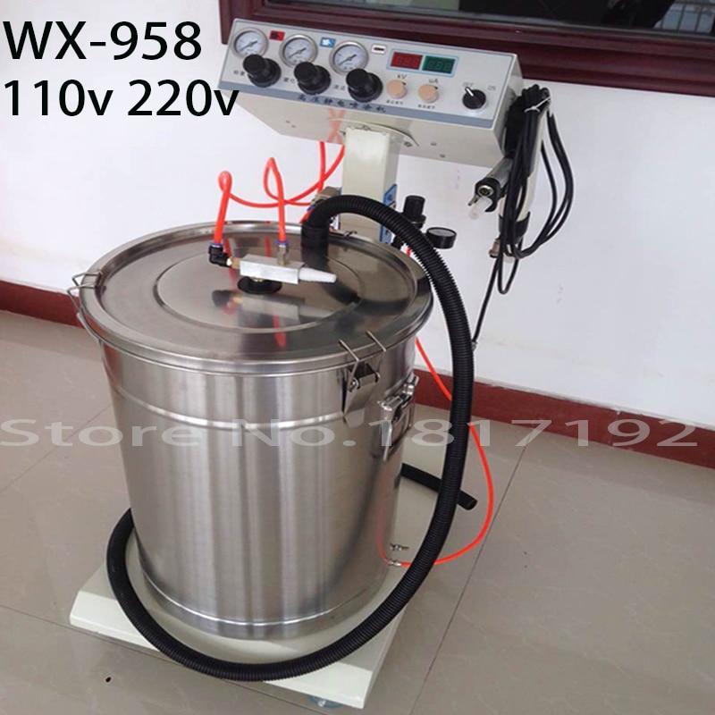 Electrostatic Powder Coating machine WX-958 Electrostatic Spray Powder Coating Machine Spraying Gun Paint AC 110v 220v fhis 65 coating machine spray valve three anti paint fan shaped