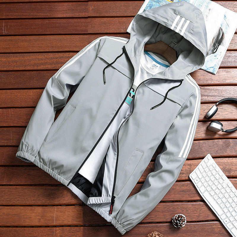 Повседневная мужская ветровка куртка-бомбер 2019 армейская Черная Мужская хип-хоп облегающая полосатая куртка-пилот Мужская куртка с капюшоном ho Мужская s jaqueta