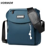 VORMOR Luxury Brand Men Messenger Bags Crossbody Business Casual Handbag Male Splitter Oxford Shoulder Bag Large Capacity