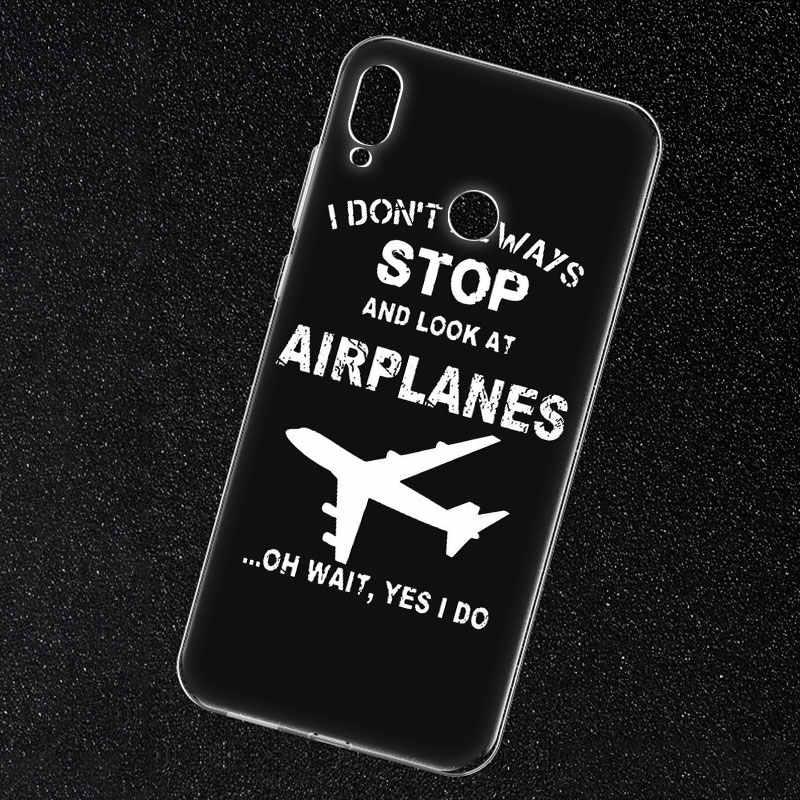 حار الطائرات طائرة يطير منقوشة لينة سيليكون الهاتف حافظة لهاتف huawei الشرف 20 20i 10 9 8 لايت 8X 8C 8A 8 S 7 S 7A برو الرؤية 20