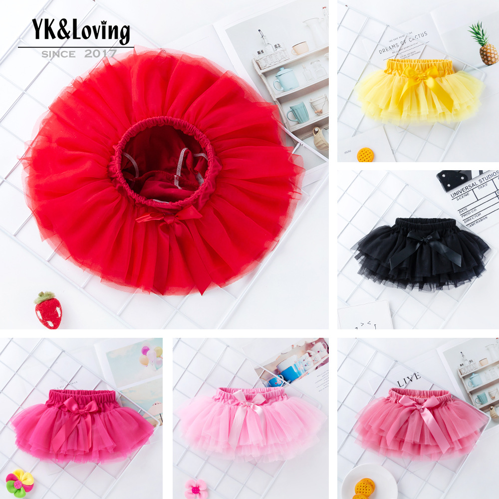 0 2 Years New Baby Girls Tutu Skirt Fluffy Children Ballet Kids Petti skirt Baby Girl Skirts Princess Tulle Party Dance Skirts in Skirts from Mother Kids