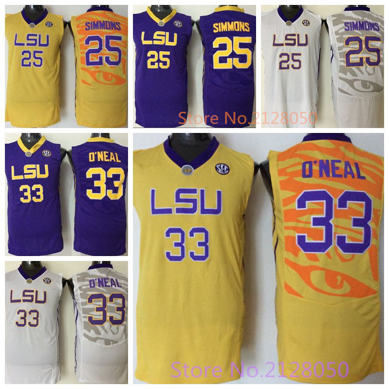 newest f3881 cc0d1 mens lsu tigers 25 ben simmons white college basketball jersey