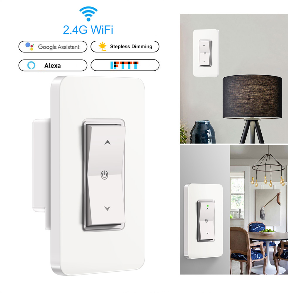 Smart Dimmer Switch 1 Gang 1100w Wifi Light Dimmer Switch