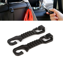 4d7fbb584 1 Pair Car Back Seat Hooks Holders For Bag Purse Cloth Grocer Luggage  Automotive Flexible Auto Hanger Headrest Car-styling