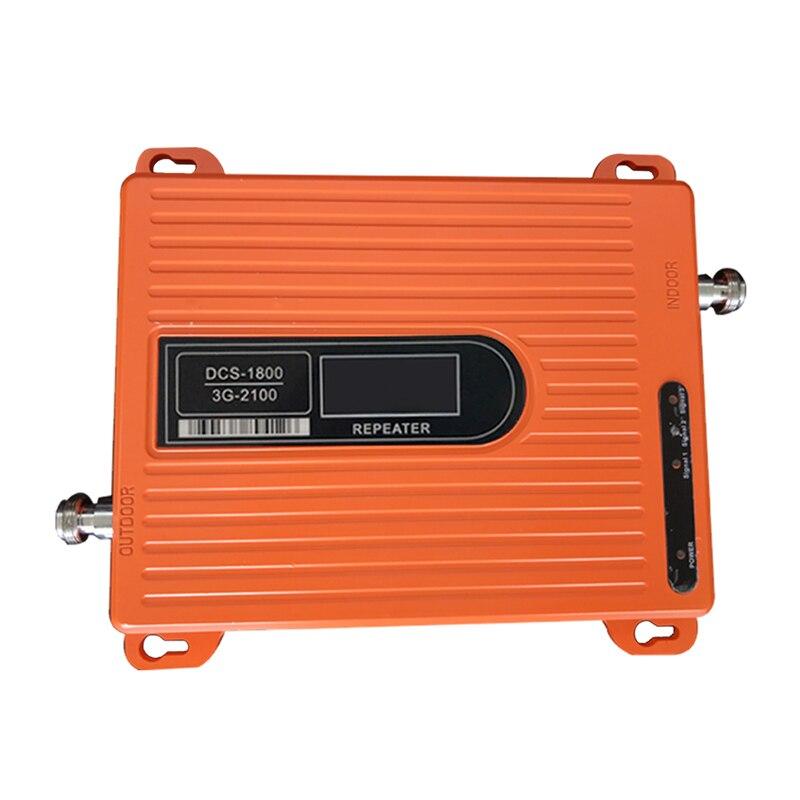 Gain de bande double 70dbi 4G DCS 1800 MHz + WCDMA 2100 Mhz 3G 4G répéteur, répéteur de Signal de téléphone portable 4G amplificateur de Booster 4G