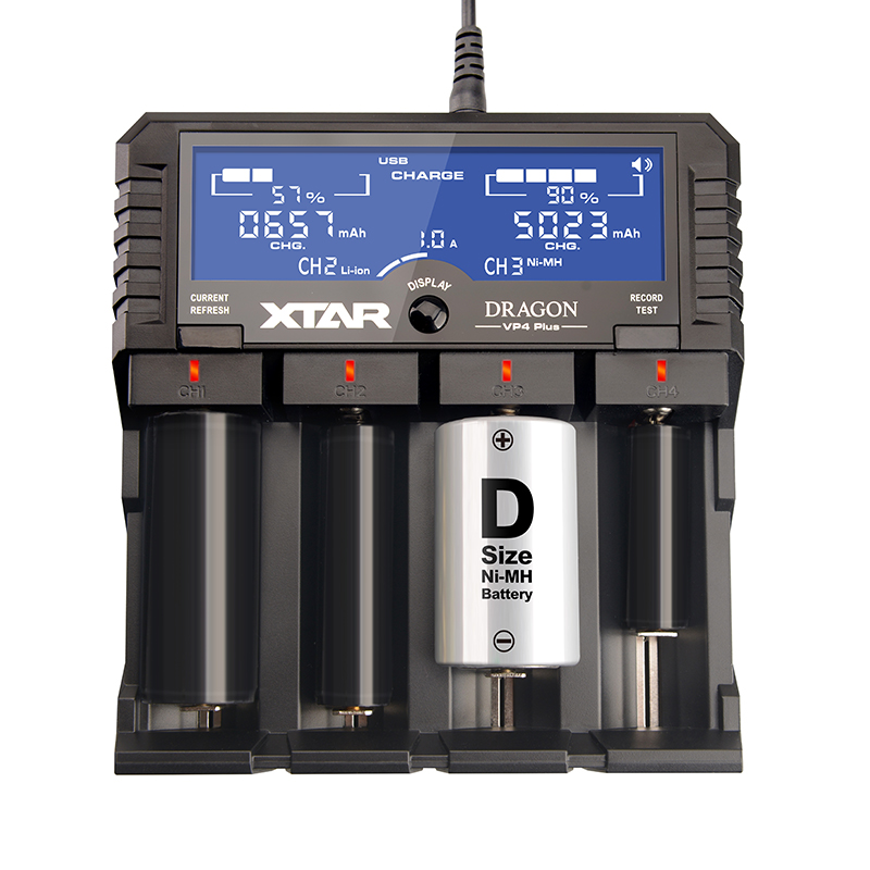 XTAR DRAGON VP4 VP4 PLUS Smart Batterys Charger Set with Pouch Probes Adapter Car Charger for